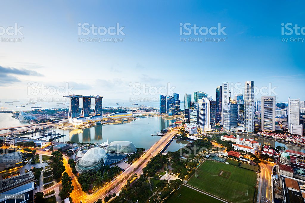 Central Business District, Singapore City stock photo