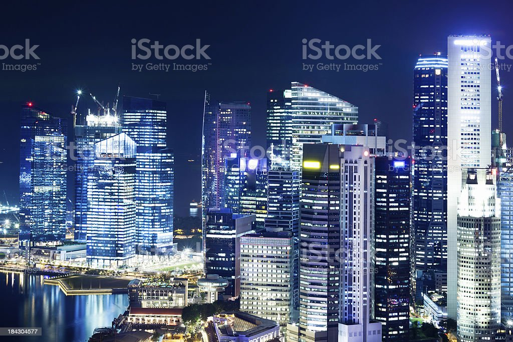 Central Business District, Singapore City royalty-free stock photo