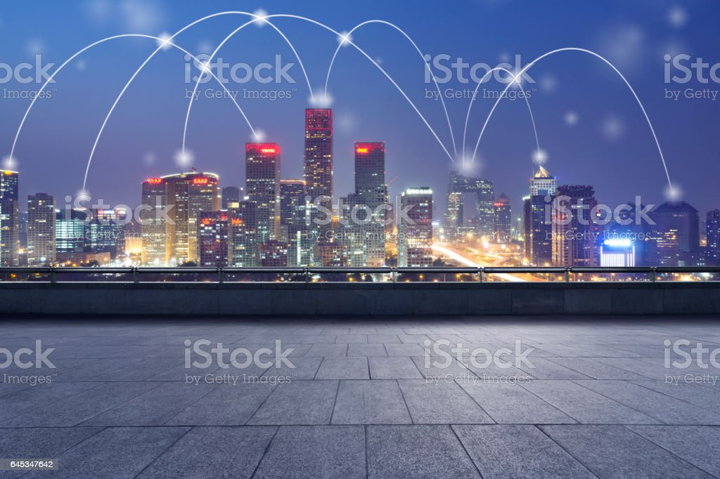 Central Business District,Beijing's business district,China. stock photo