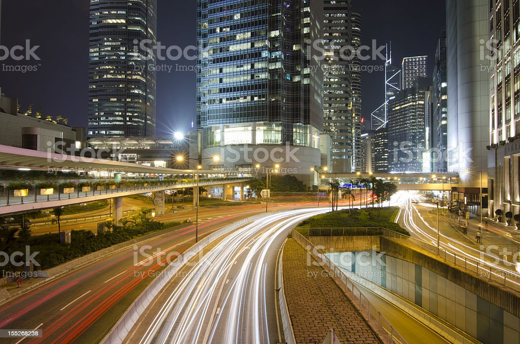 Central Business Zone in Hong Kong royalty-free stock photo