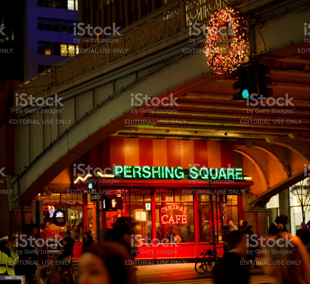 Central Cafe Pershing Square Manhattan stock photo