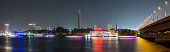 Central Cairo night panoramic long exposure.