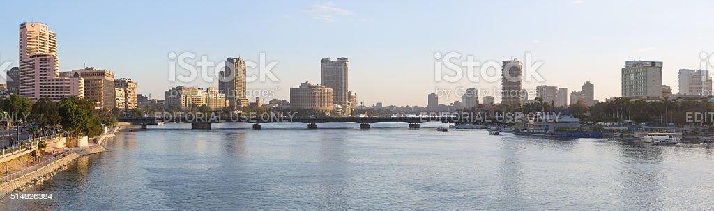 Central Cairo skyline stock photo