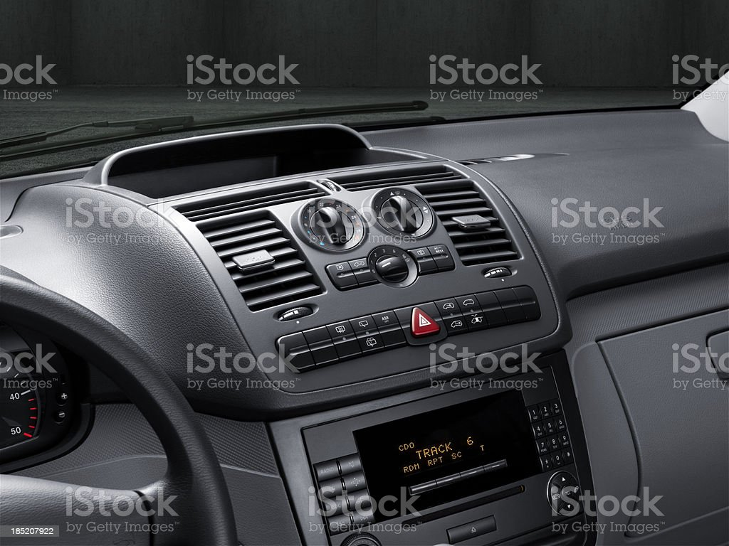 Central Car Console royalty-free stock photo