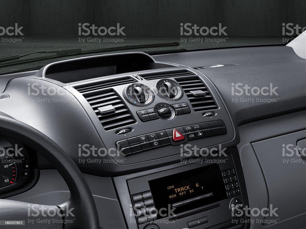 Central Car Console stock photo