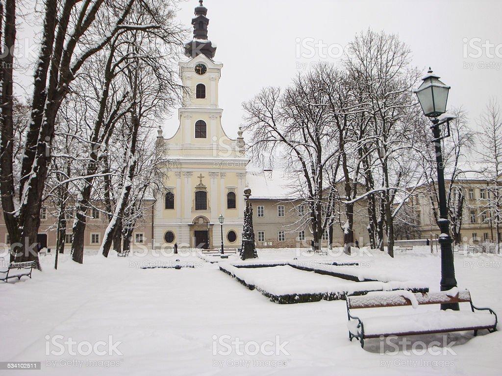 Central Church in Bjelovar stock photo