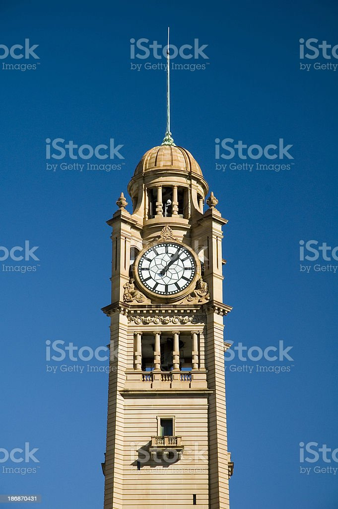 Central clock tower stock photo