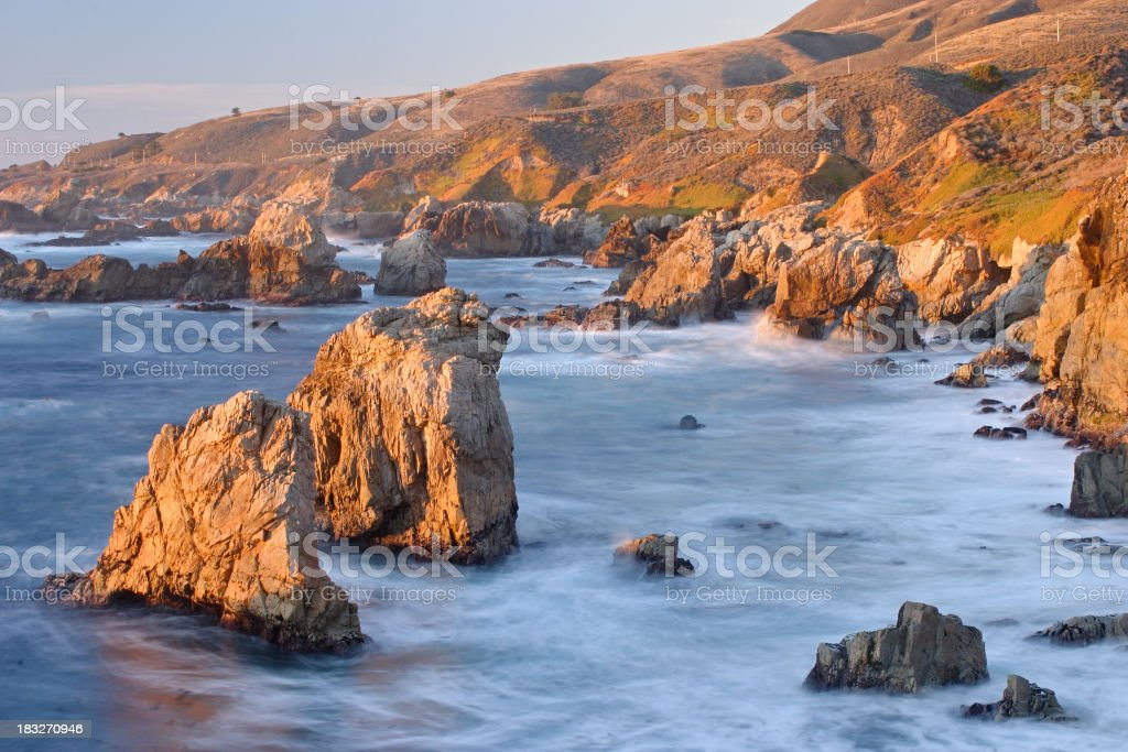 Central coast of California stock photo