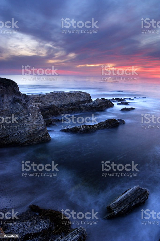 Central Coast Sunset stock photo