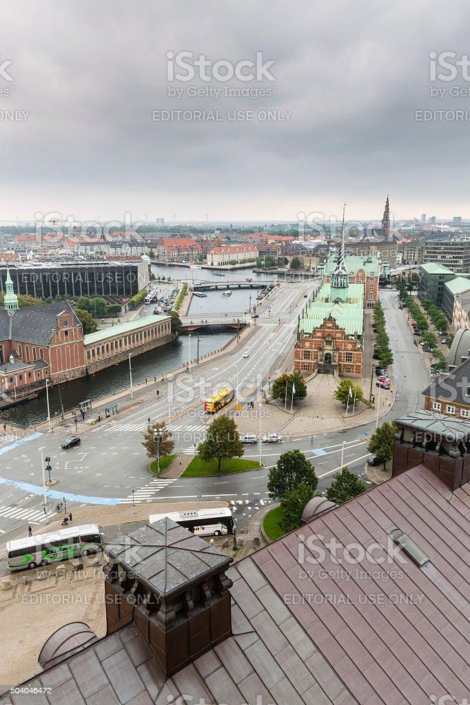 Central Copenhagen On A Gray Day stock photo
