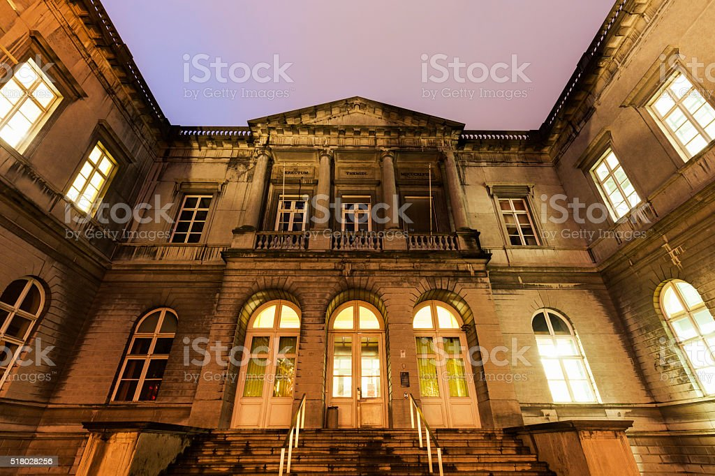 Central Courthouse in Mons stock photo
