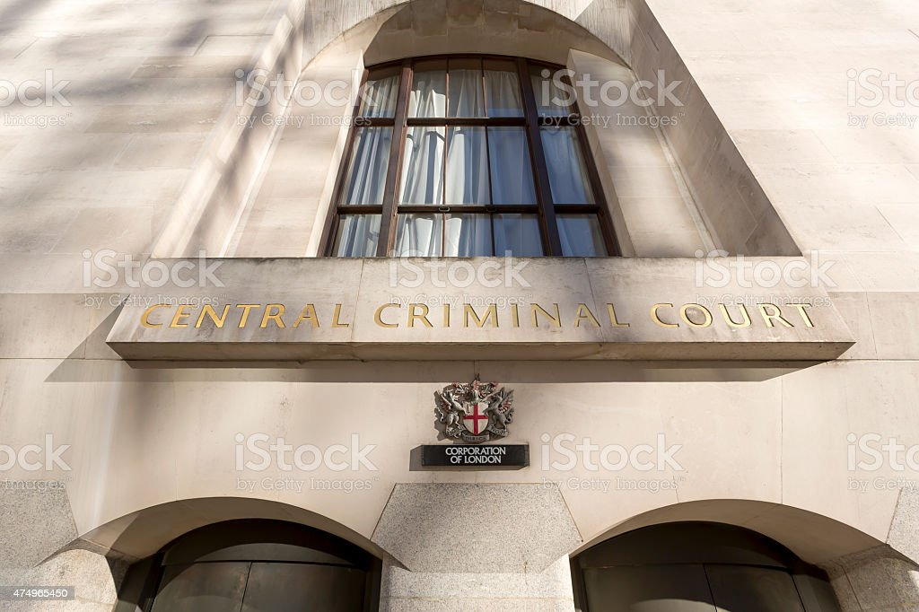 Central Criminal Court of England and Wales in London stock photo