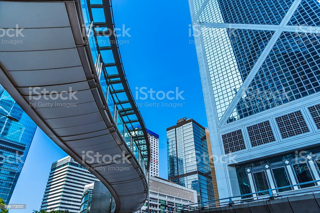 central district of hong kong stock photo