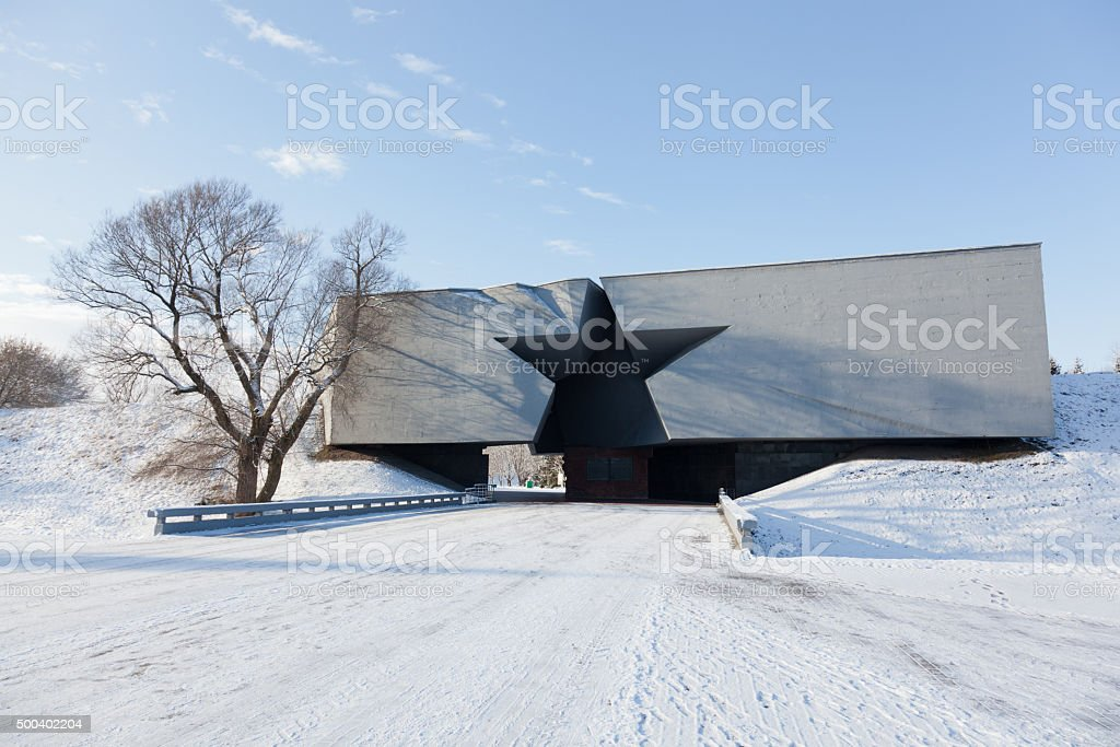 Central entrance to the Brest fortress stock photo