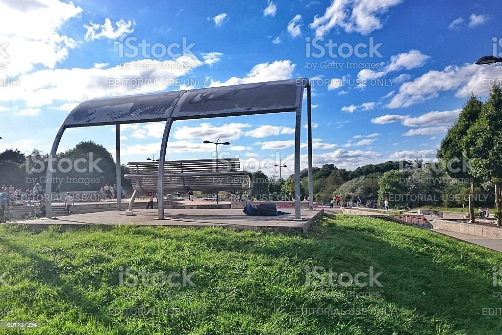 Central Forest Park Hanley Stoke-on-Trent Skate Park stock photo