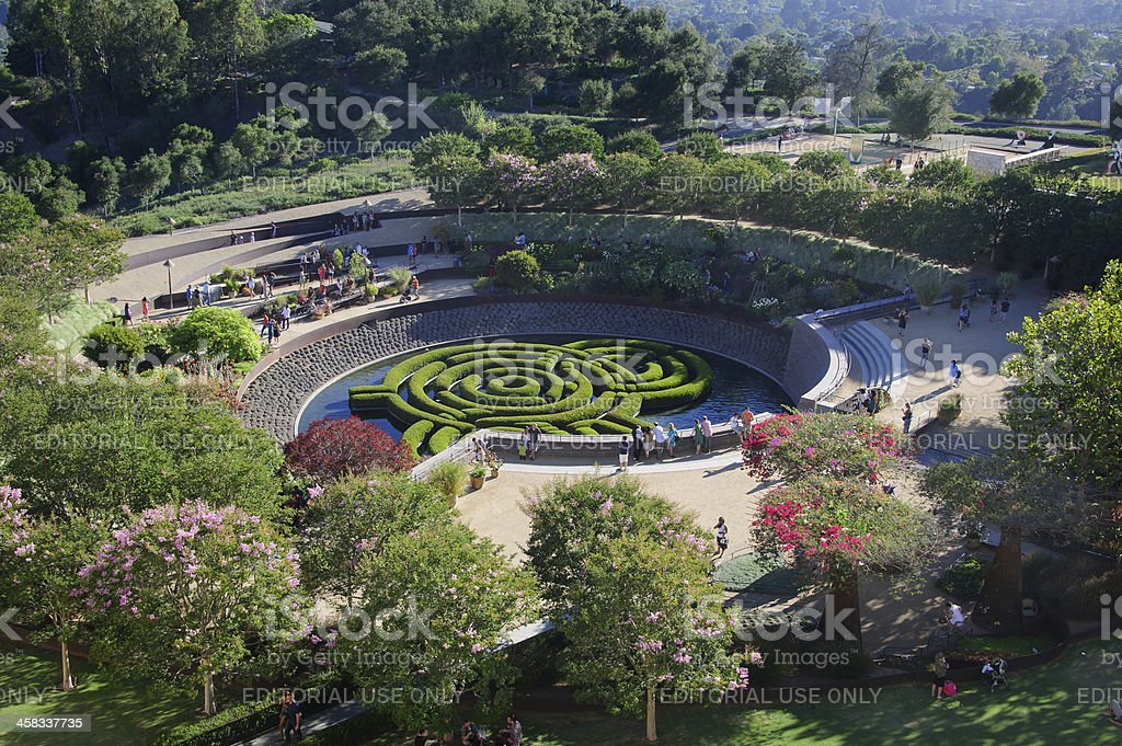 Central Garden at The Getty royalty-free stock photo