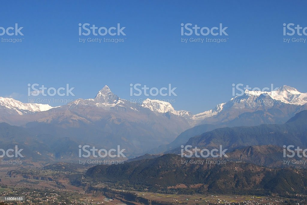 Central Himalayan View royalty-free stock photo
