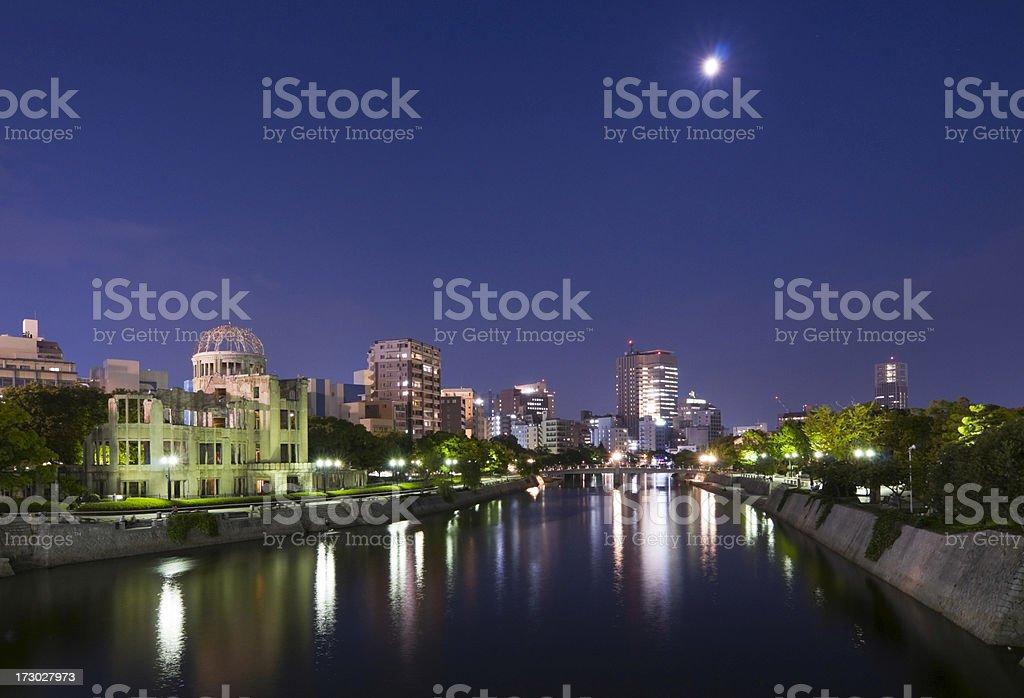 Central Hiroshima and Motoyasu River stock photo