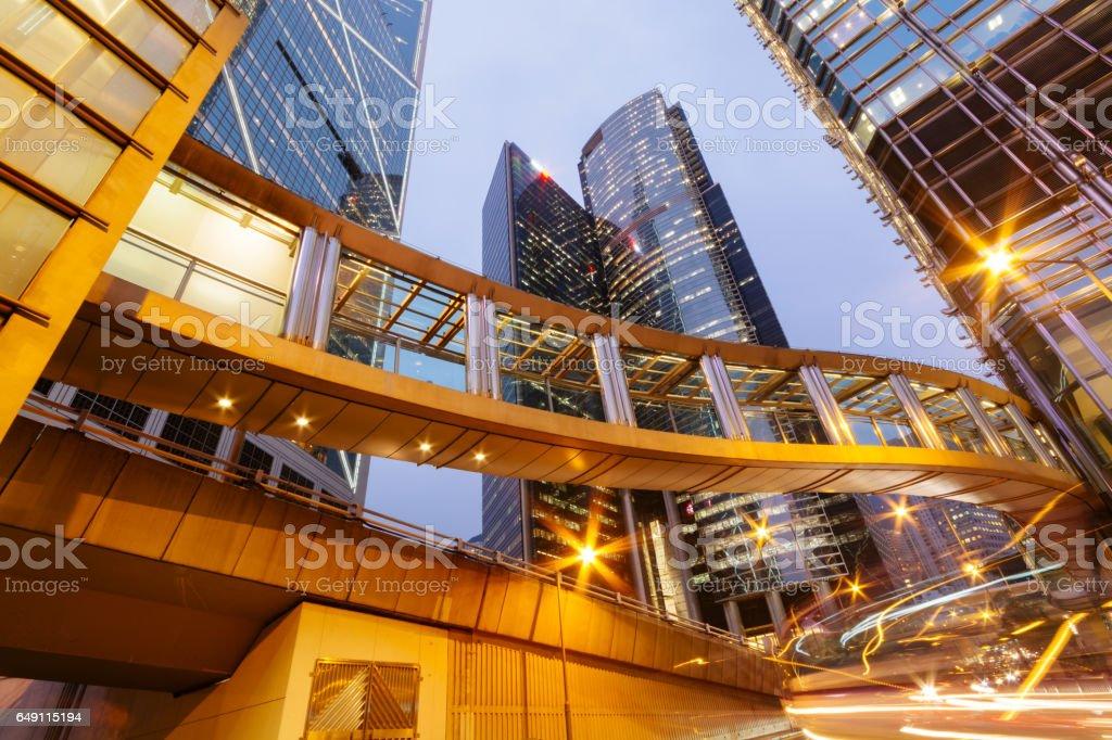 Central Hong Kong at night stock photo