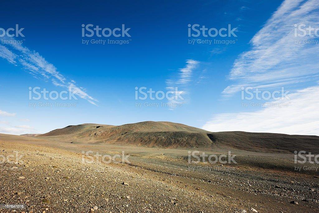 Central Iceland Highlands Landscape stock photo