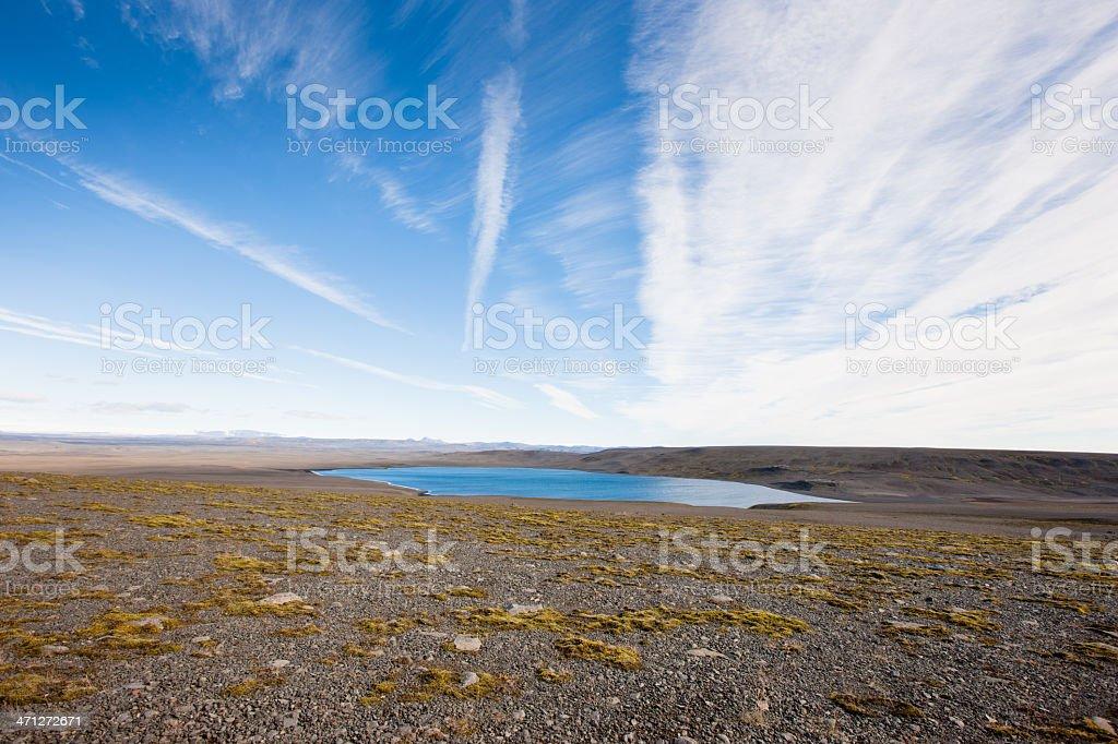 Central Iceland Highlands Sprengisandur Natural Basin stock photo