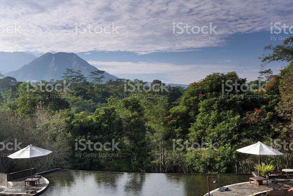 Central Java Resort in Indonesia stock photo