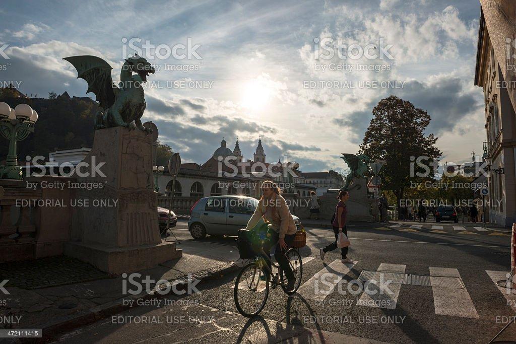 Central Ljubljana, Slovenia stock photo