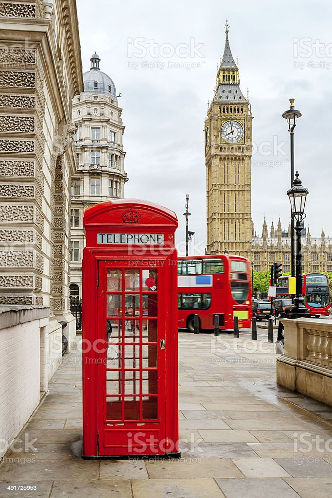 Central London, England stock photo