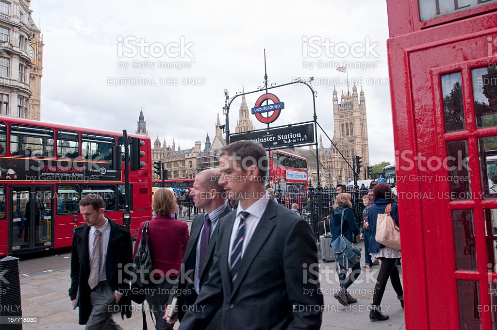 Central London royalty-free stock photo