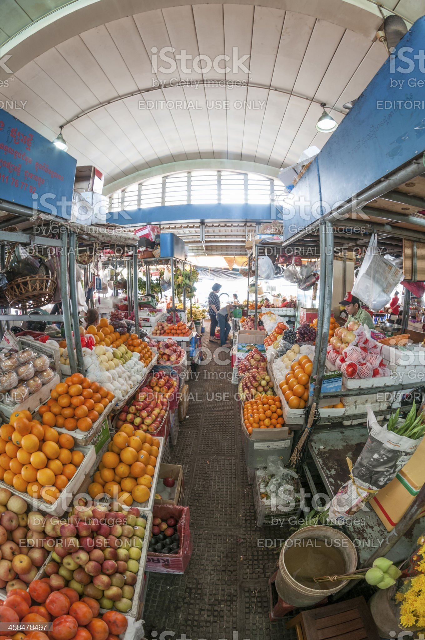 Central Market In Phnom Penh, Cambodia royalty-free stock photo