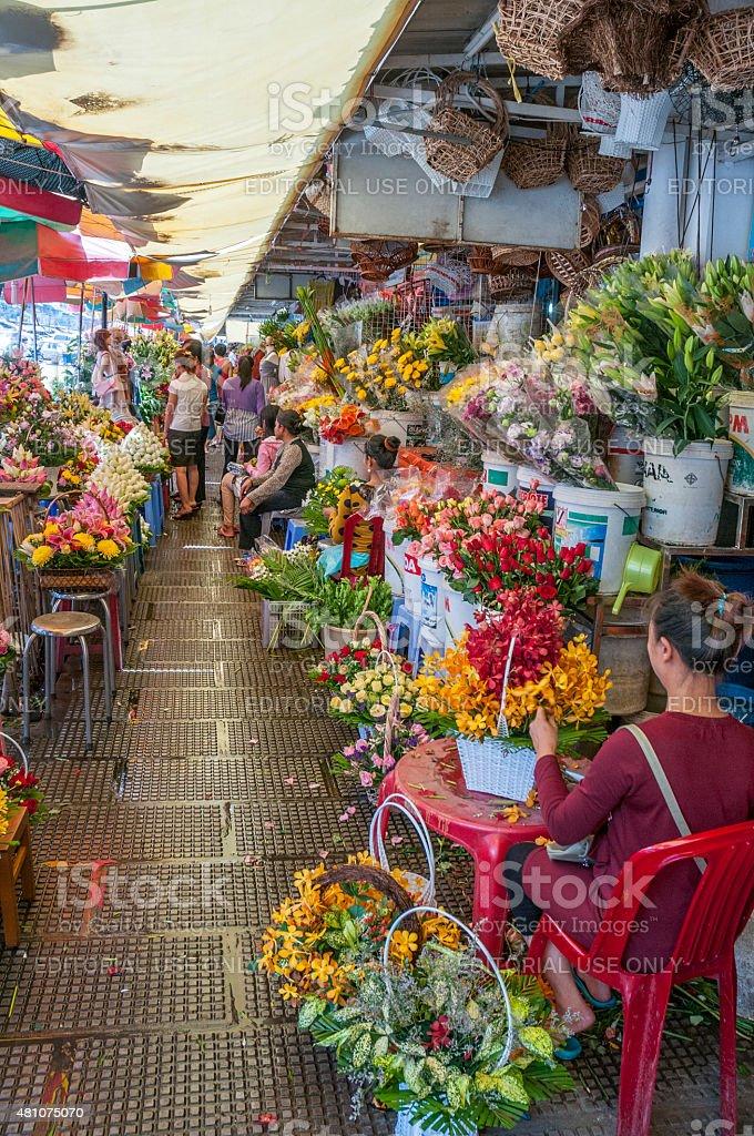 Central Market In Phnom Penh Cambodia stock photo