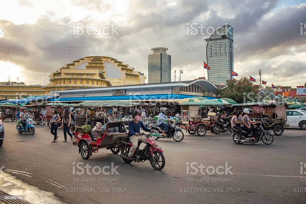 Central Market In Phnom Penh, Cambodia stock photo