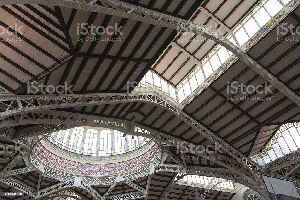 Central Market of Valencia royalty-free stock photo