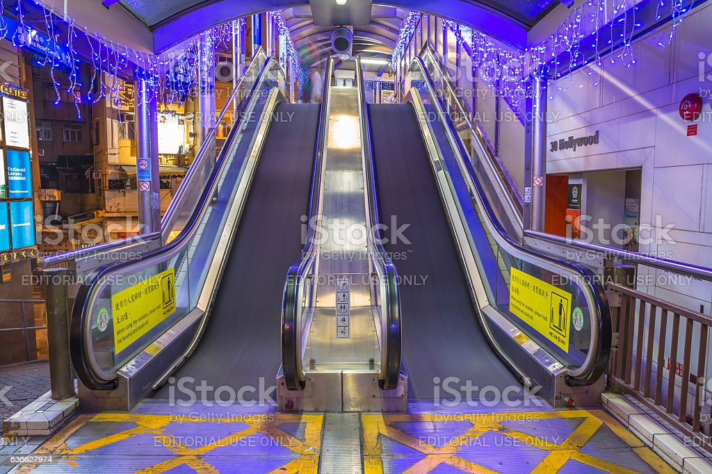 Central Mid-Levels escalator stock photo