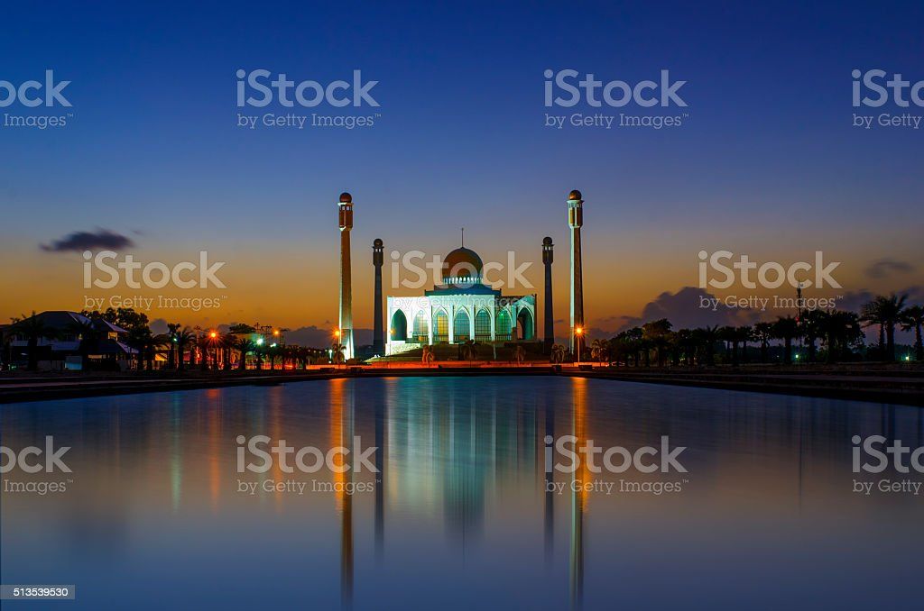 Central mosque of Songkhla province, Thailand stock photo