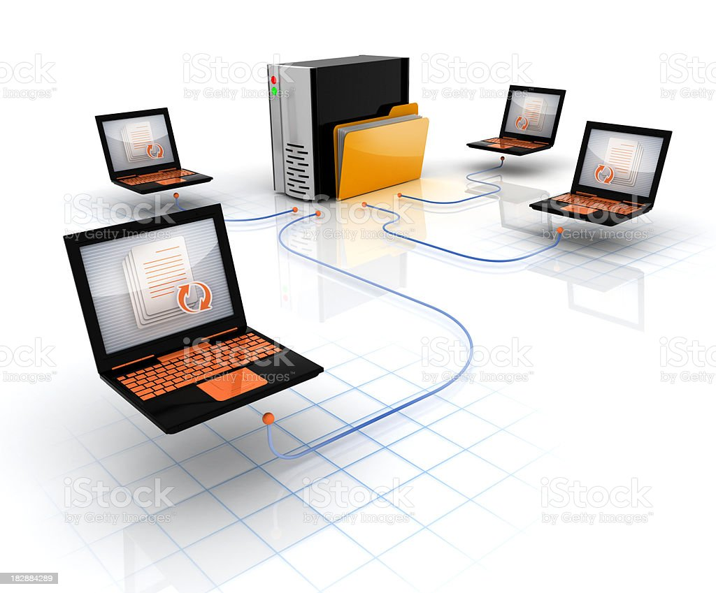 Central or corporate server stock photo