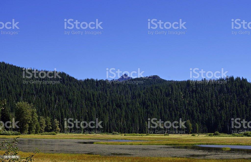 Central Oregon's Lost Lake stock photo