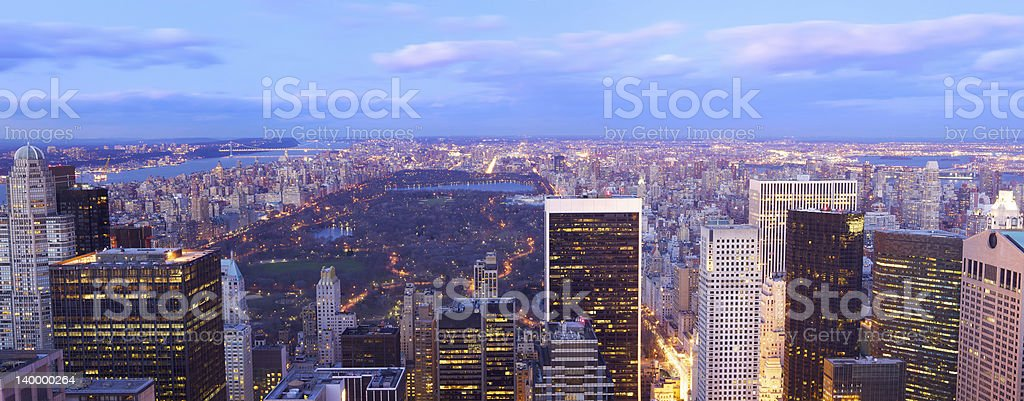 Central Park aerial view panorama royalty-free stock photo