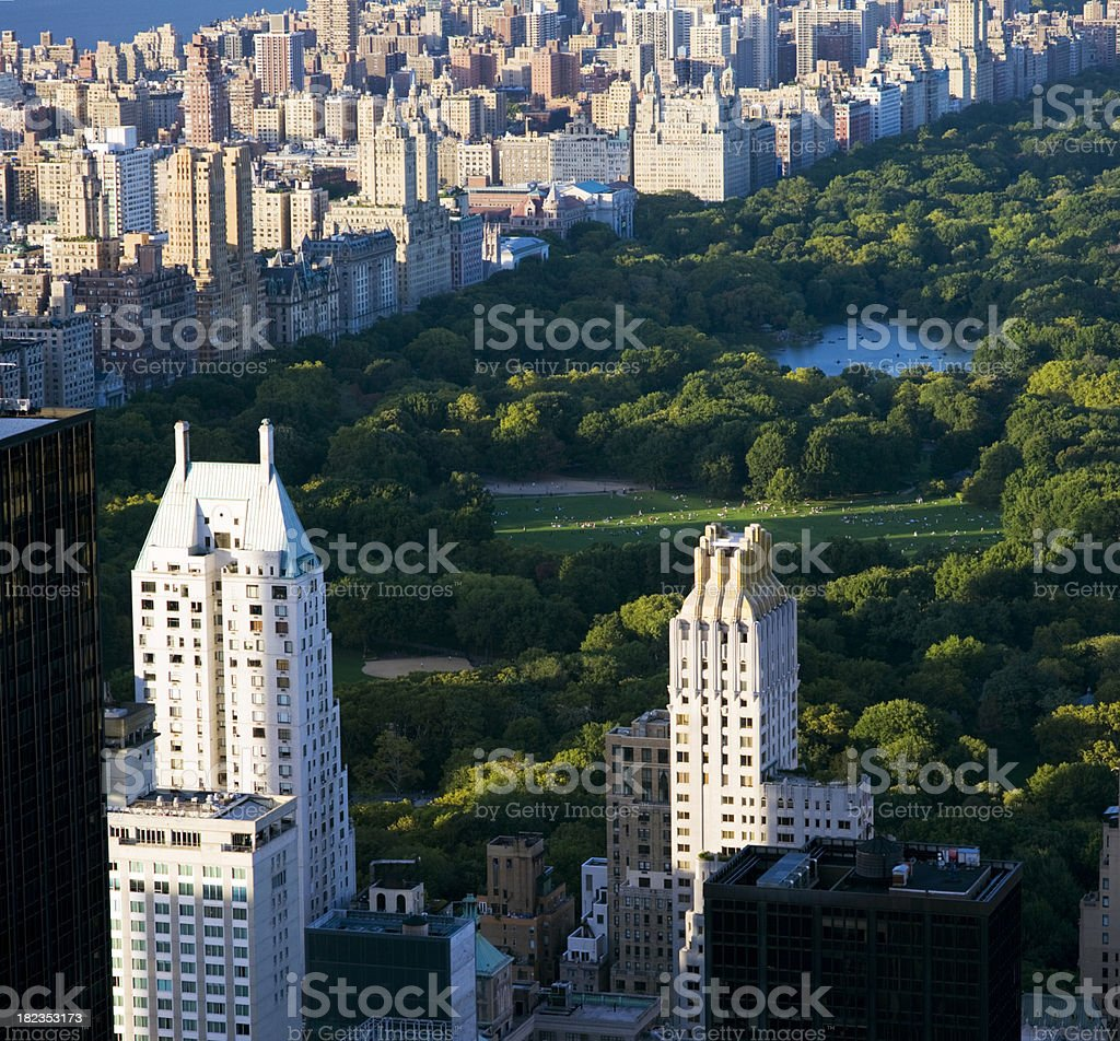 Central Park and Manhattan in New York City USA royalty-free stock photo