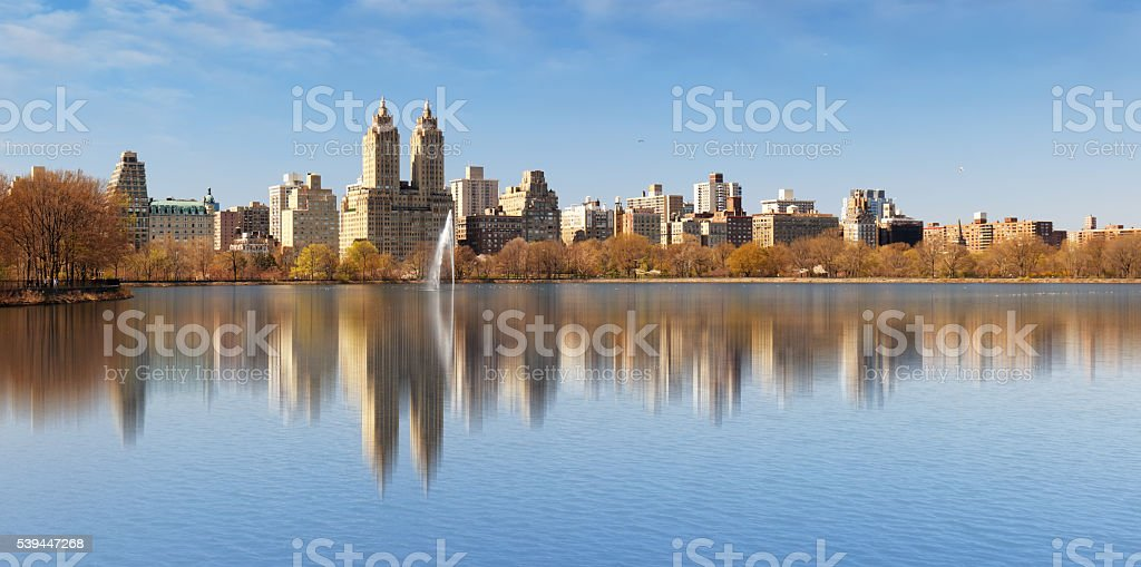 Central Park and Manhattan - New York City. stock photo