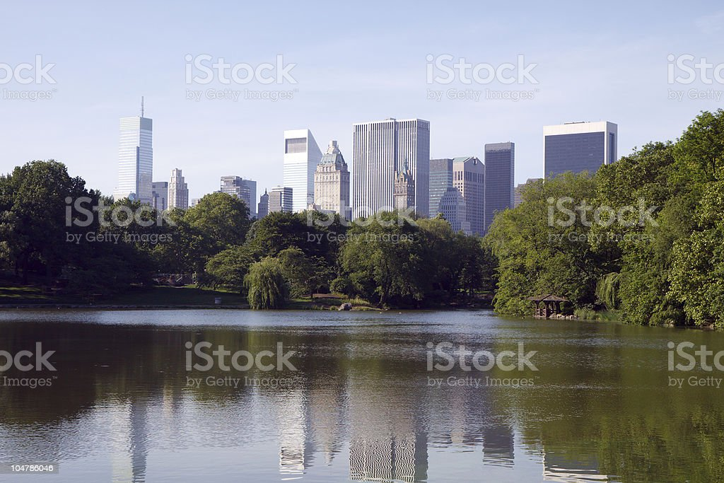 Central Park and New York City Skyline stock photo