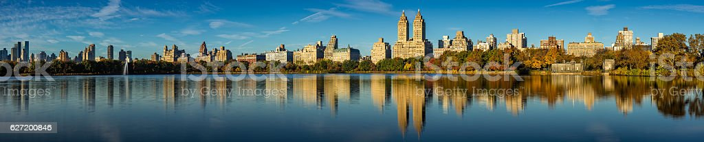 Central Park and Upper West Side in fall, New York stock photo