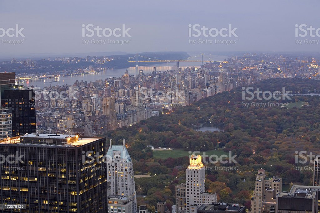 Central Park At Dusk royalty-free stock photo