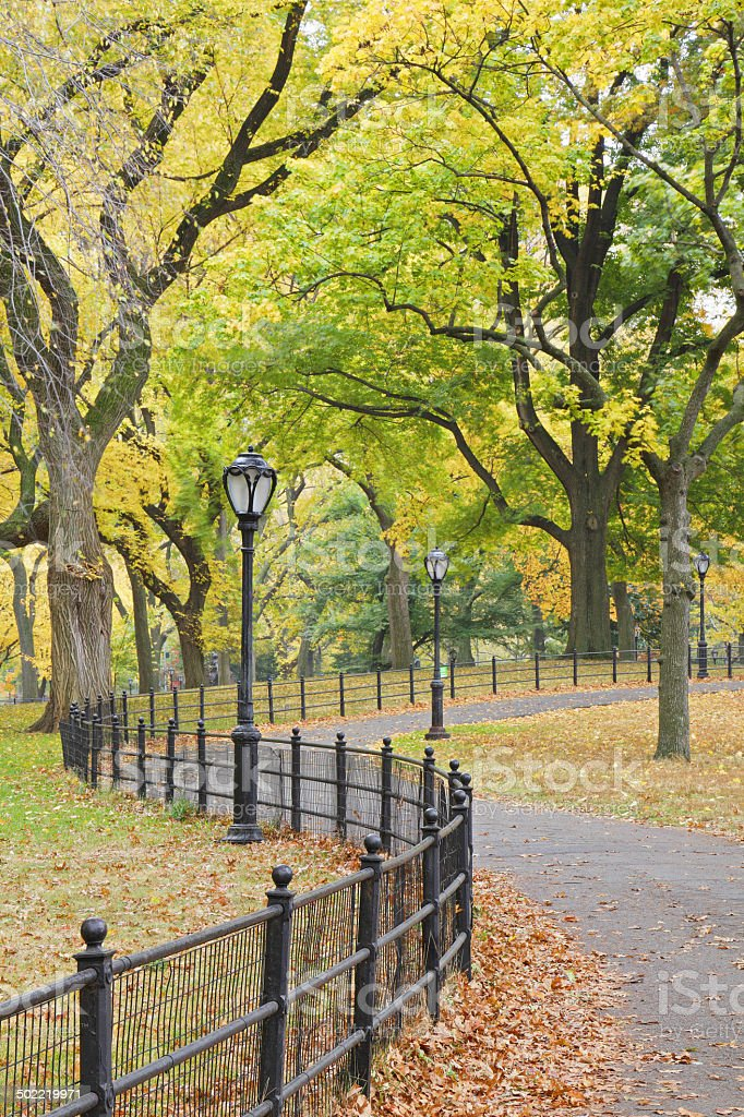 Central Park Autumn - New York royalty-free stock photo