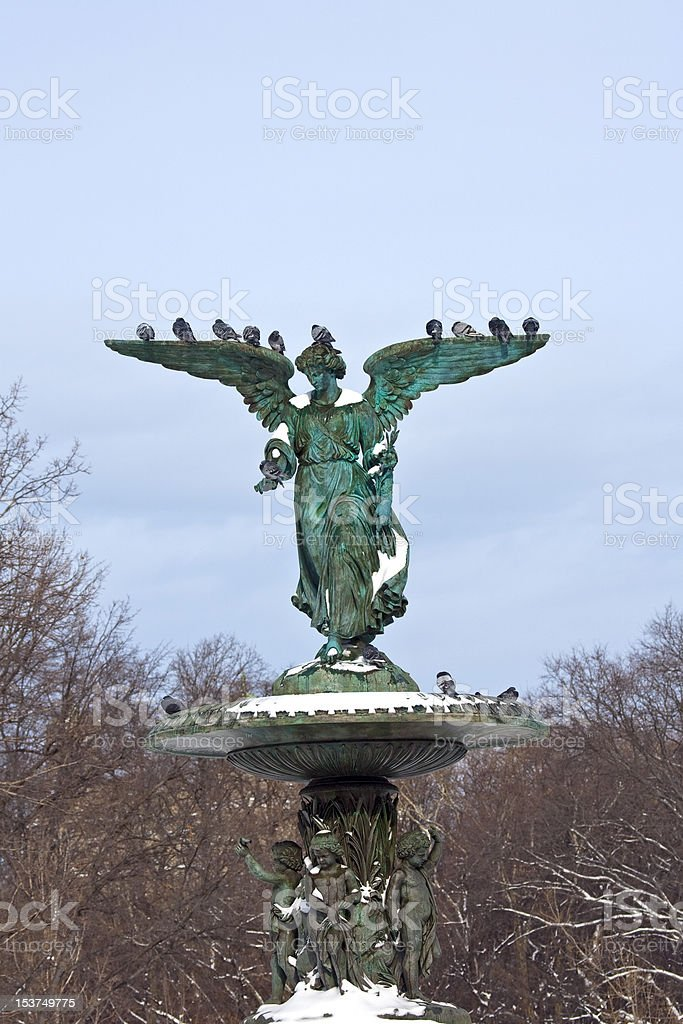 Central Park. Bethesda Fountain. stock photo
