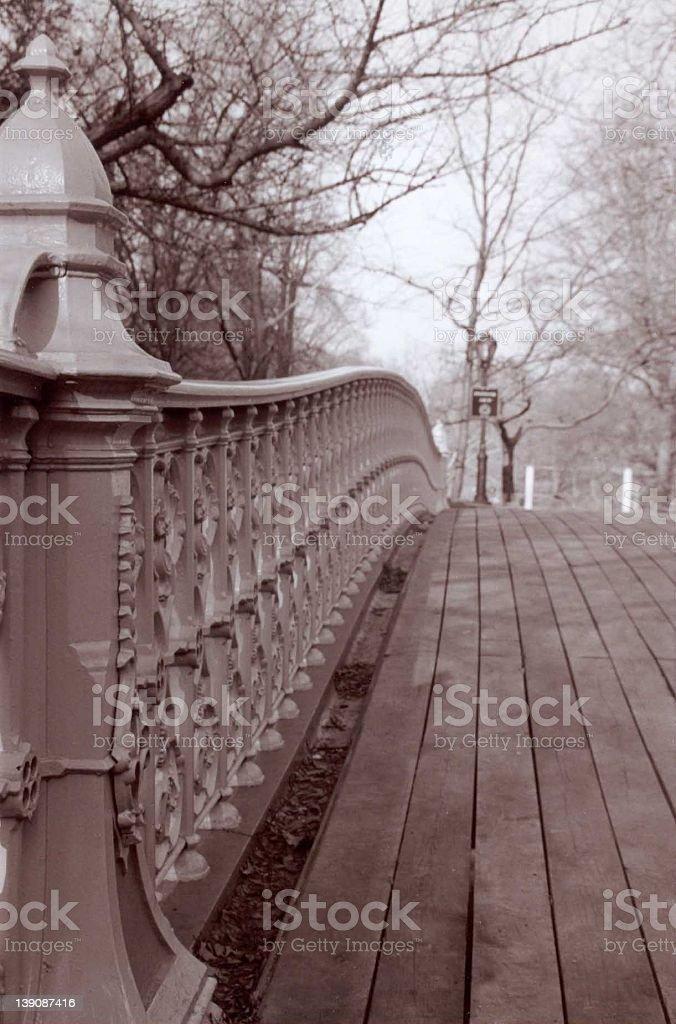 Central Park Bridge royalty-free stock photo