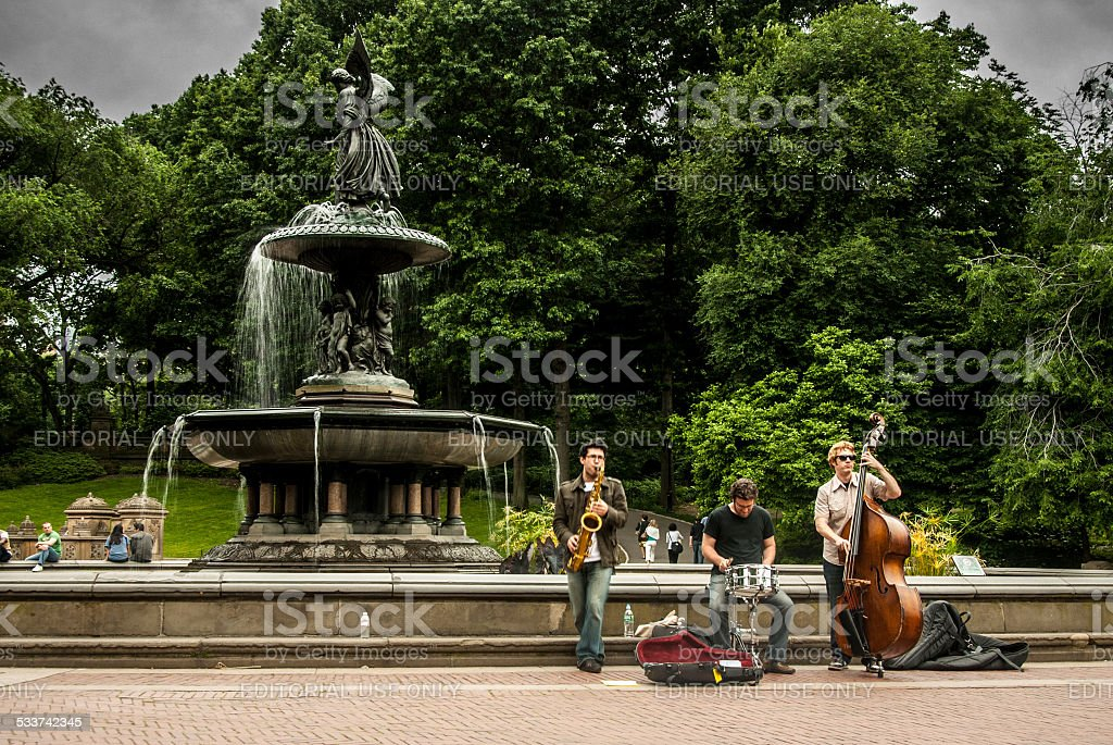 Central Park Buskers stock photo