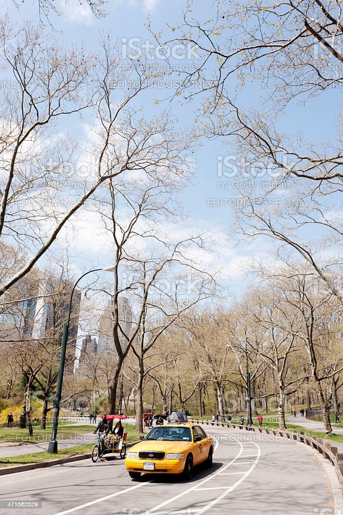 Central Park cab, New York City royalty-free stock photo