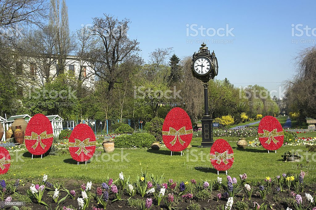 Central Park Clock in Bucharest royalty-free stock photo