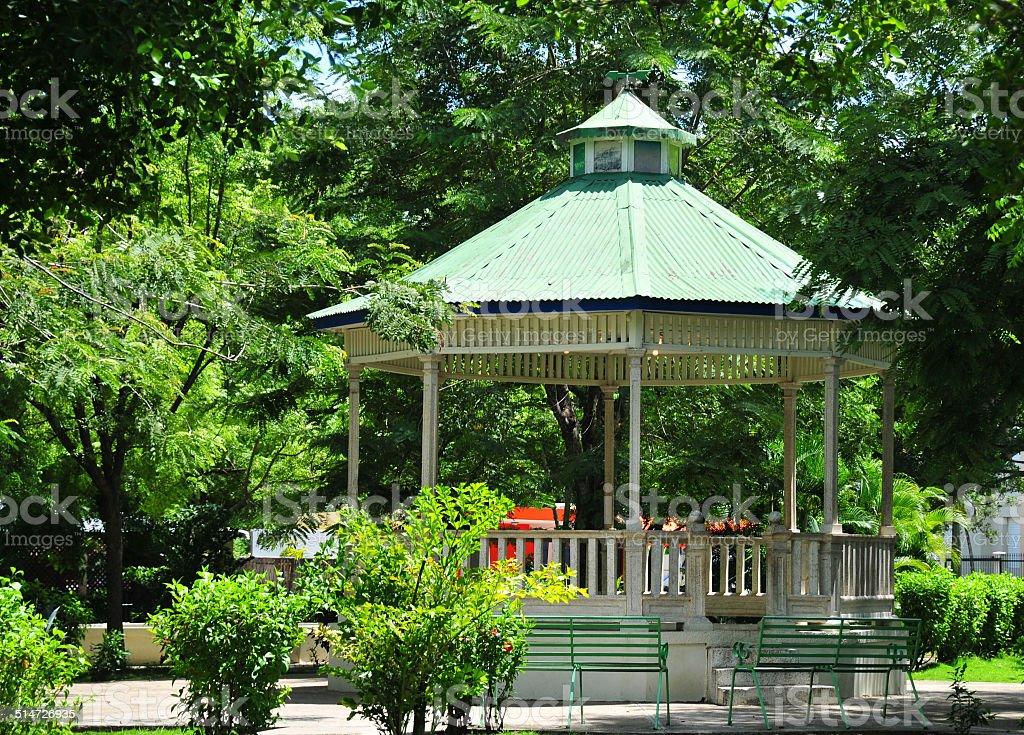 Central park - Dajab?n, Dominican Republic stock photo